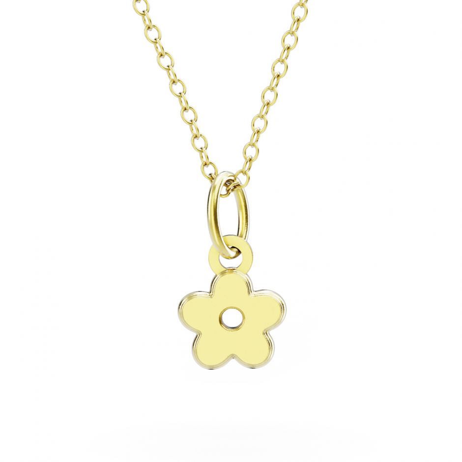 Shaun The Sheep - Gold Vermeil Flower Necklace Set