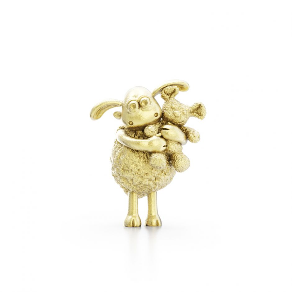Shaun The Sheep - Gold Vermeil Timmy & Teddy Bear Charm