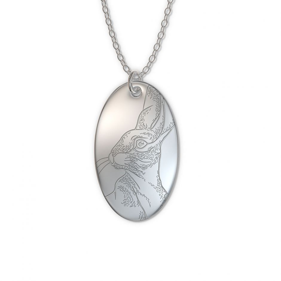 Watership Down - Sterling Silver Oval Hazel Tag Necklace Set
