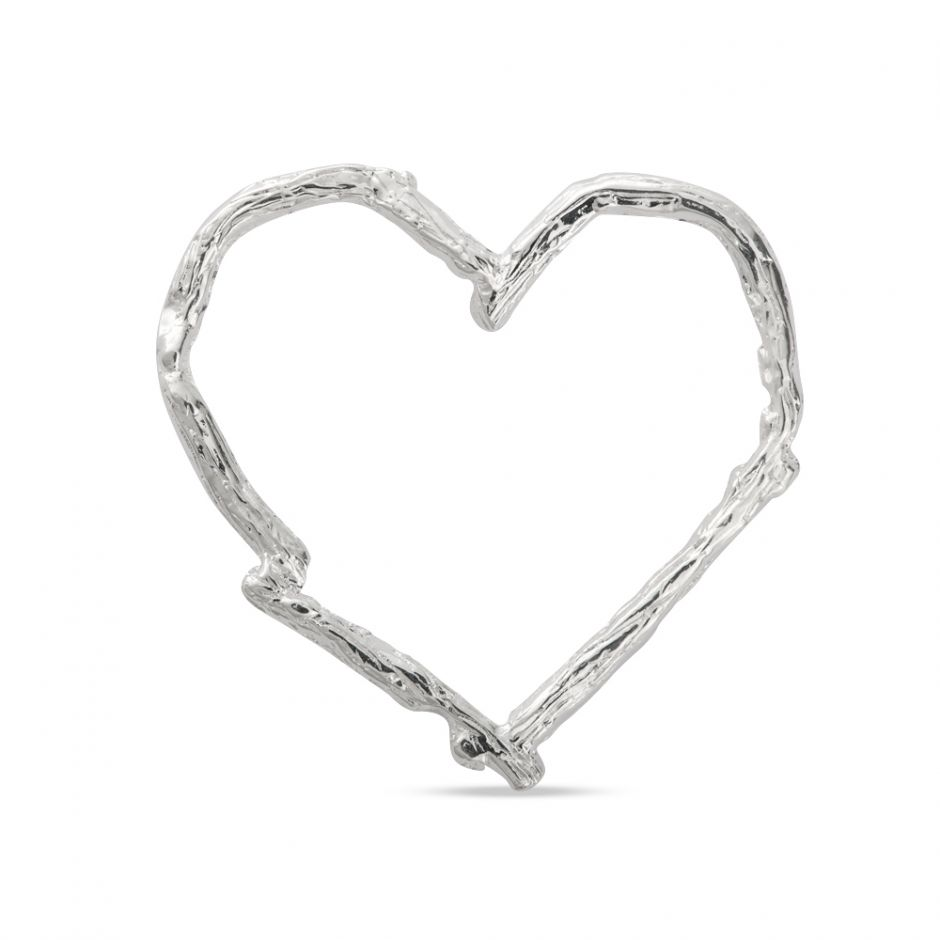 Licensed to Charm - Sterling Silver Twig Heart Charm