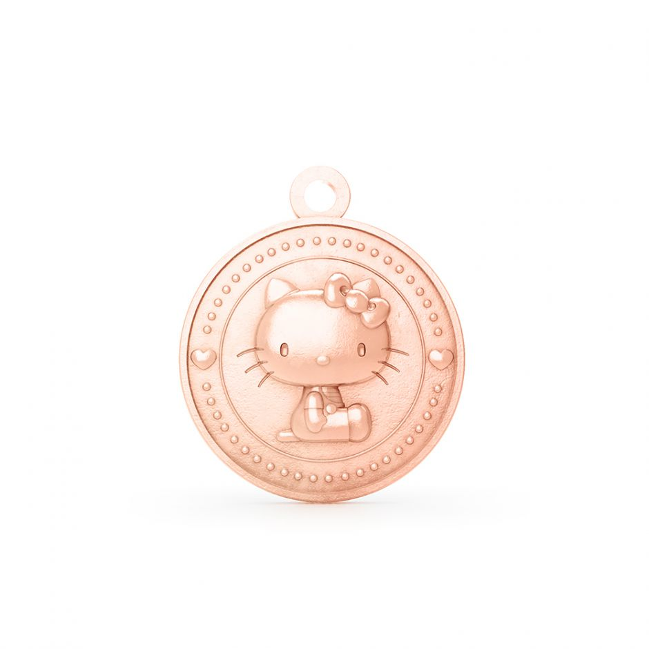 Hello Kitty 18ct Rose Gold Kitty Coin Charm