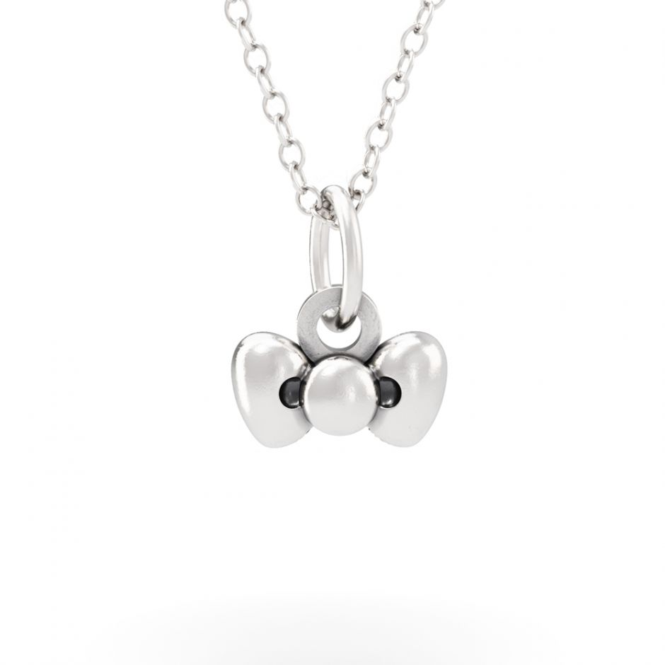 Hello Kitty - Sterling Silver Bow Necklace Set