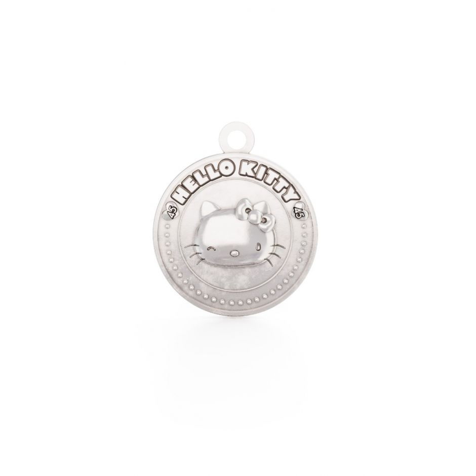 Hello Kitty - Sterling Silver Winking Kitty Coin Charm