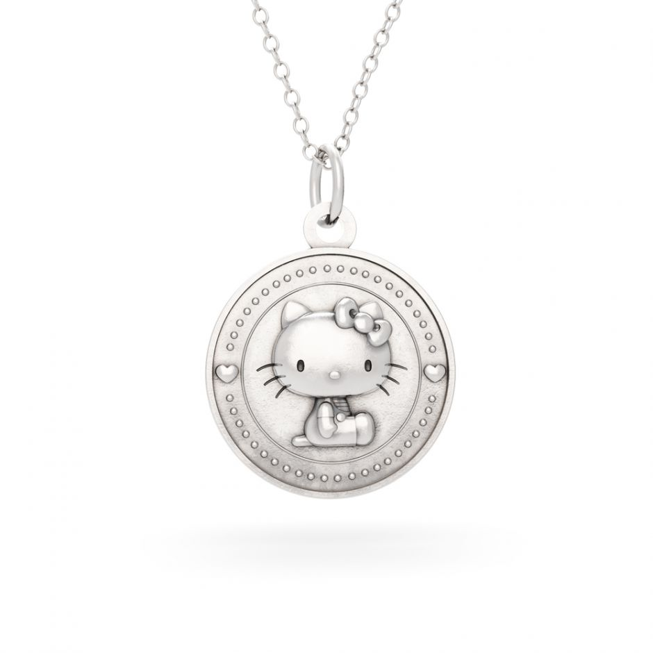 LIMITED EDITION Hello Kitty - Sterling Silver Kitty Coin Necklace Set