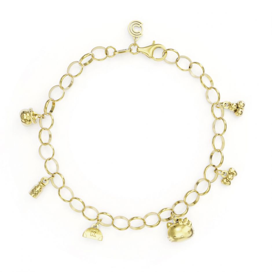 Hello Kitty - Gold Vermeil Complete Bracelet