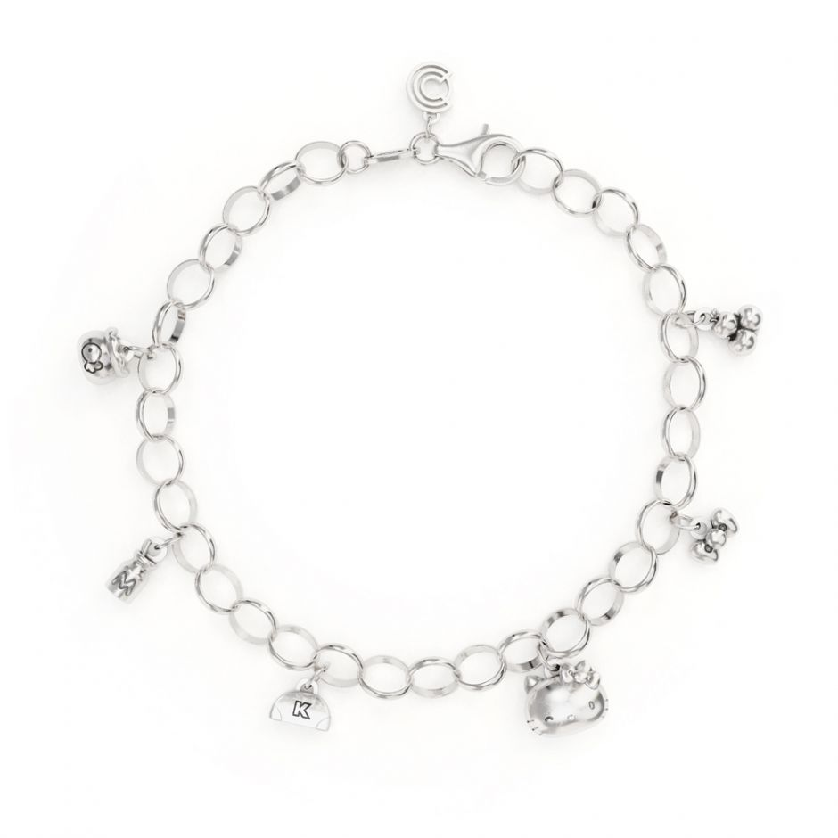 Hello Kitty - Sterling Silver Complete Bracelet