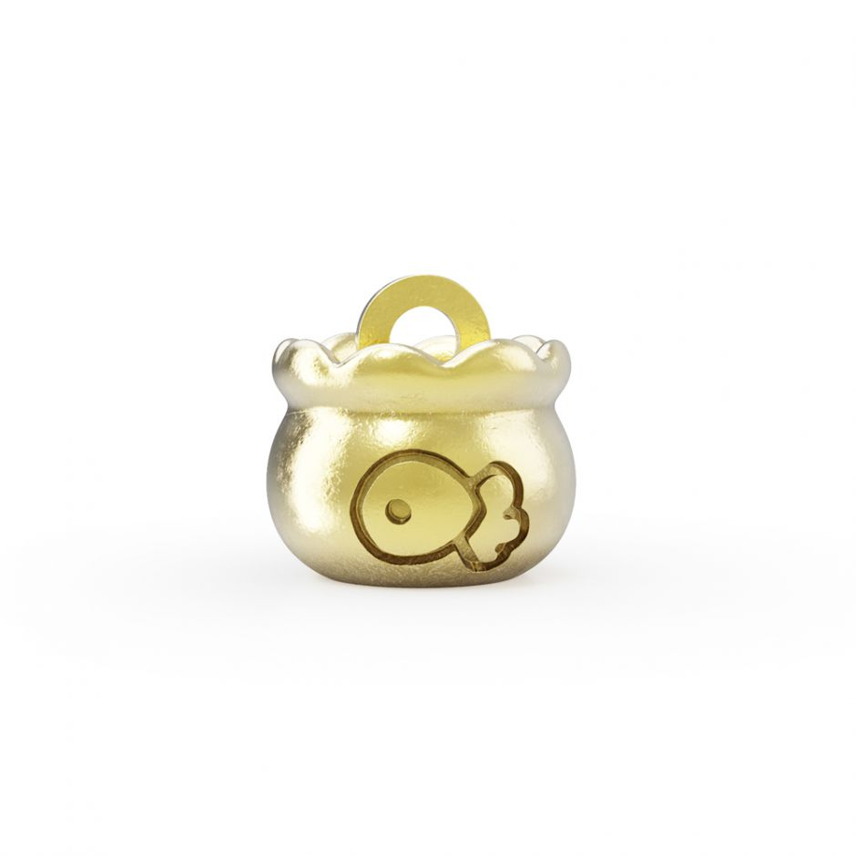 Hello Kitty - 18ct Gold Vermeil Fish Bowl Mini Charm