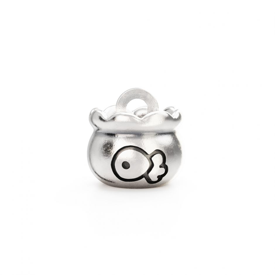 Hello Kitty - Sterling Silver Fish Bowl Mini Charm