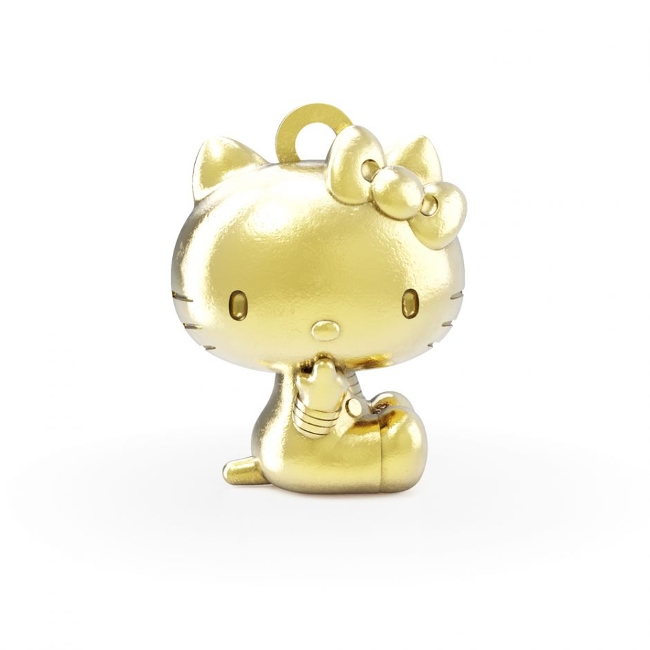 Hello Kitty - 18ct Gold Vermeil Sitting Kitty Charm