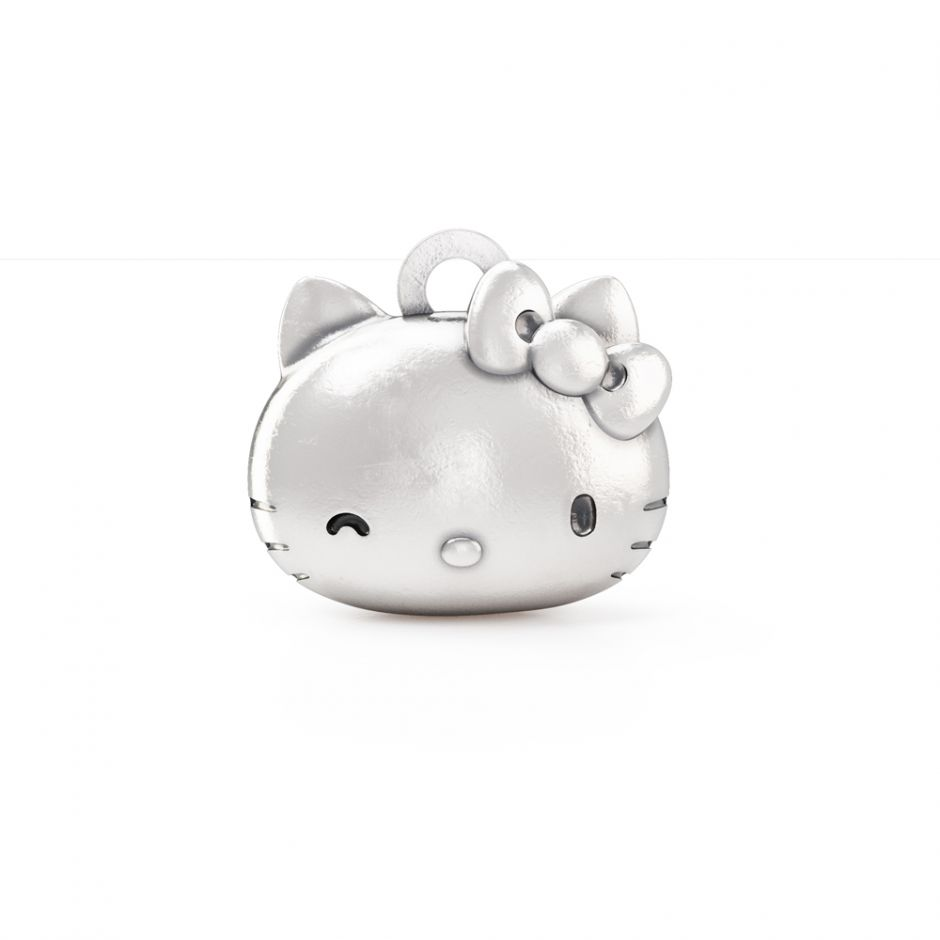 Hello Kitty - Sterling Silver Kitty Head Charm