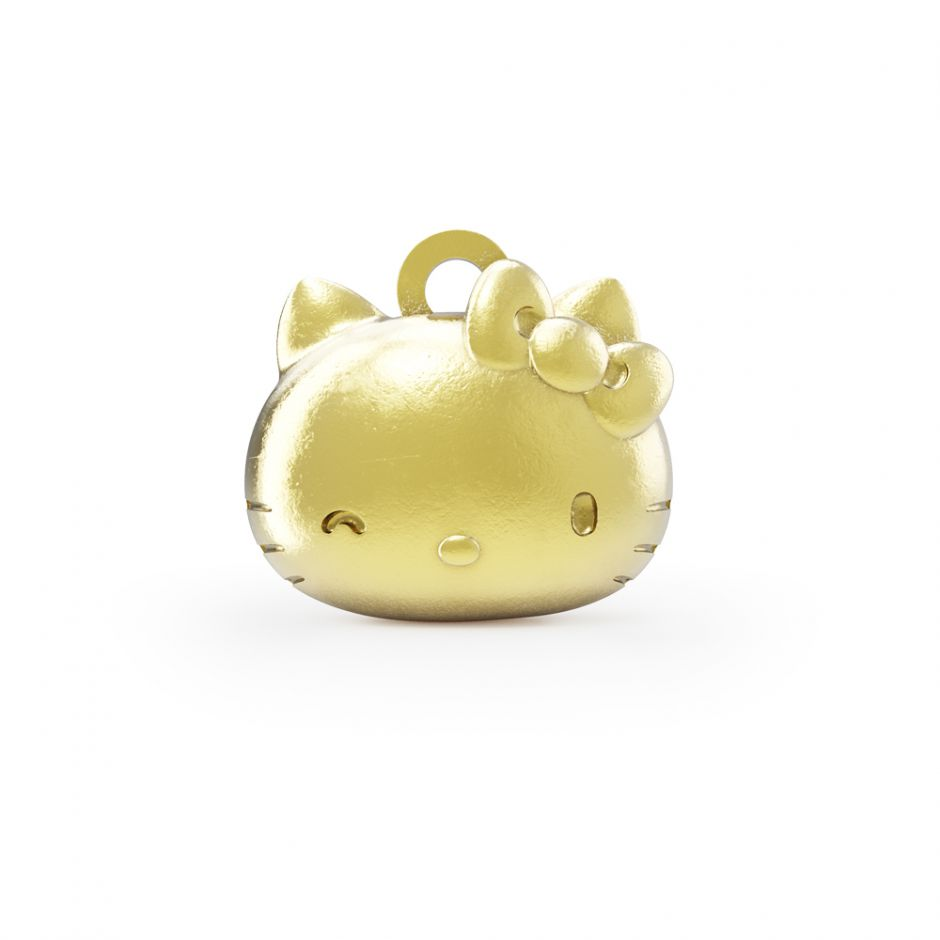 Hello Kitty - 18ct Gold Vermeil Kitty Head Charm