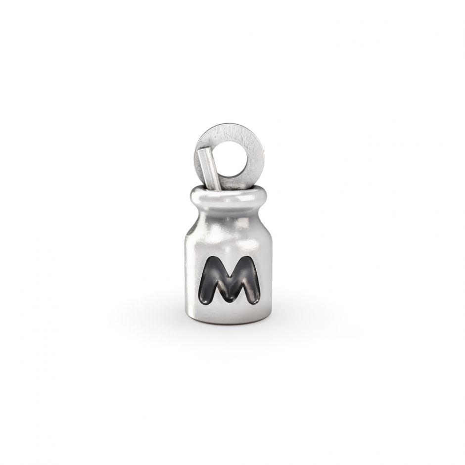 Hello Kitty - Sterling Silver Milk Bottle Mini Charm