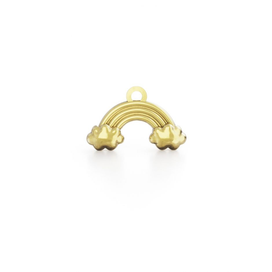 Hello Kitty - 18ct Gold Vermeil Rainbow Mini Charm