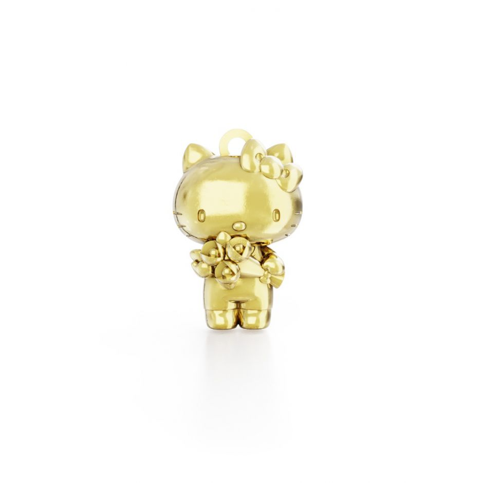Hello Kitty - Gold Vermeil Kitty with Flowers Classic Charm