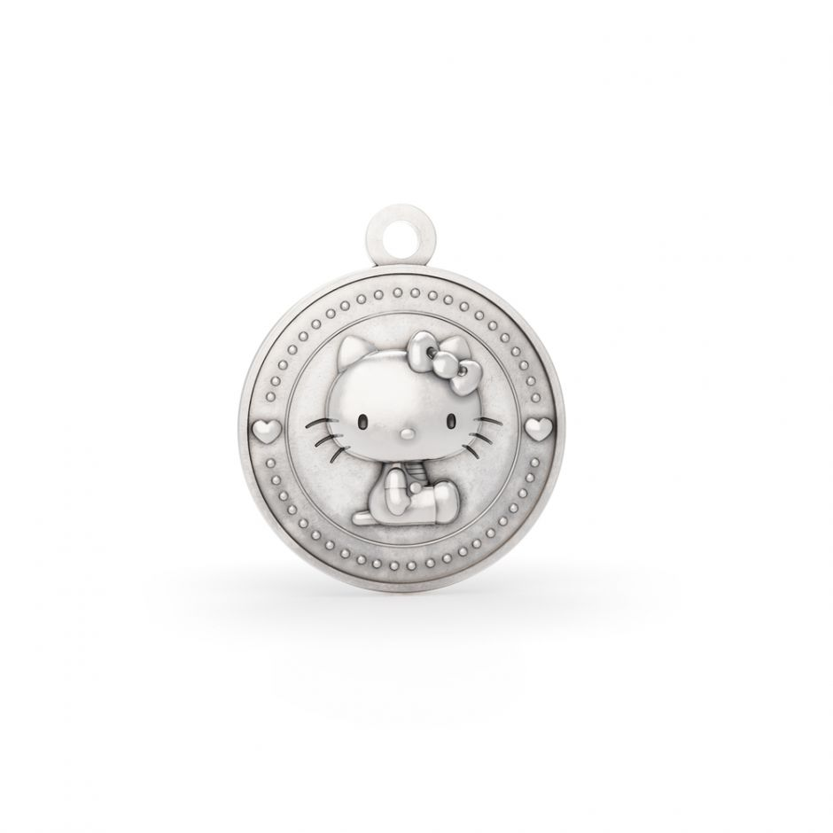 Limited Edition Hello Kitty - Sterling Silver Kitty Coin Charm