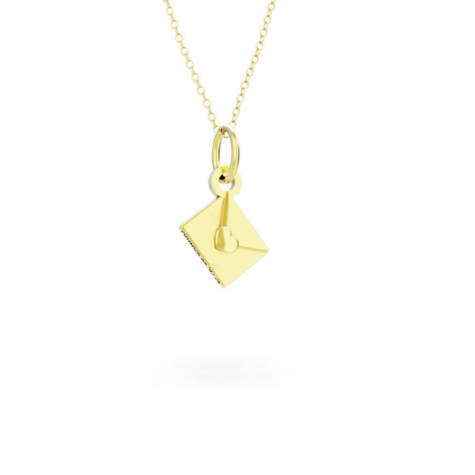 Hello Kitty - 18ct Gold Vermeil Love Letter Necklace