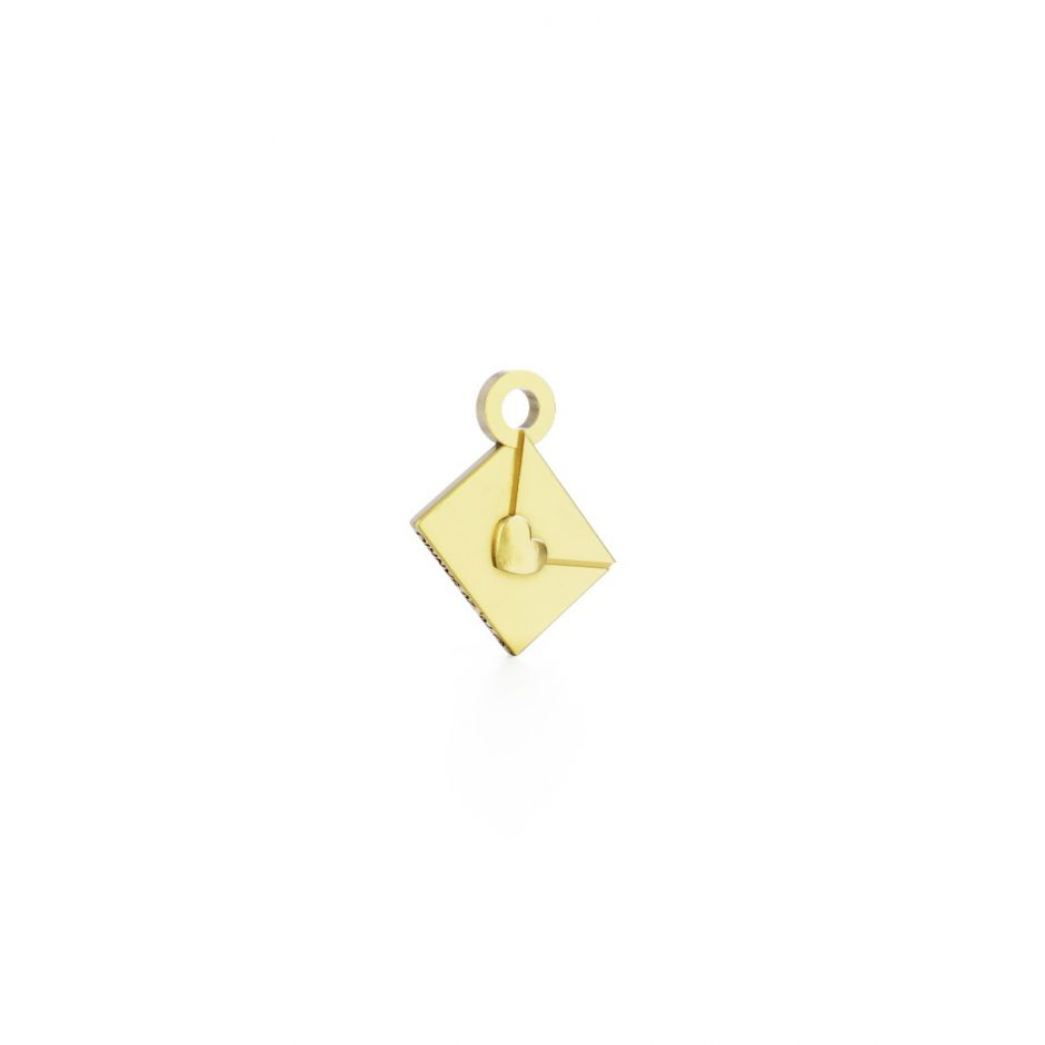 Hello Kitty - 18ct Gold Vermeil Love Letter Mini Charm