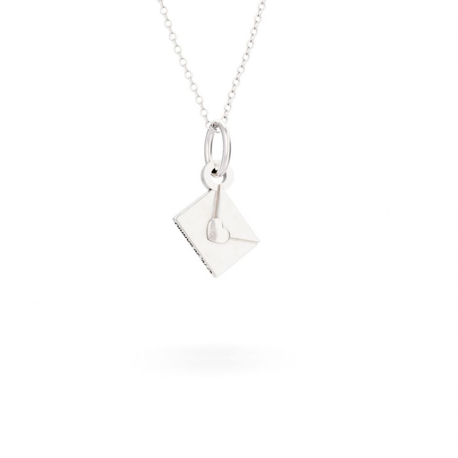 Hello Kitty - Sterling Silver Love Letter Necklace