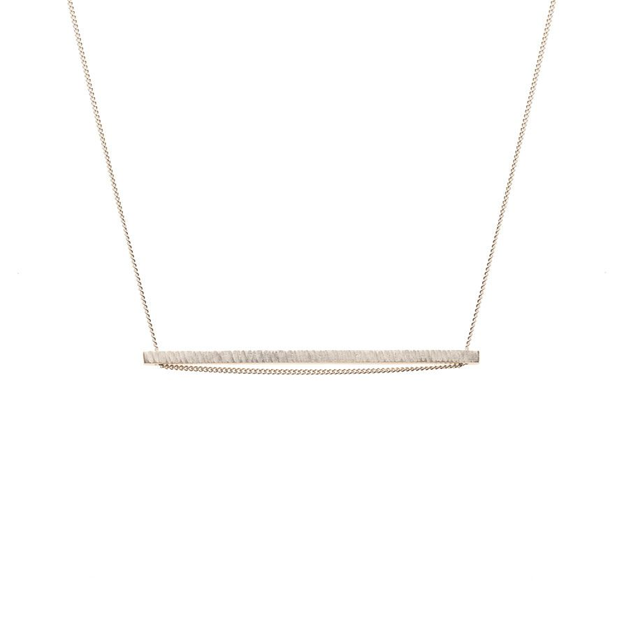 Sterling Silver Elemental Horizontal Bar Necklace
