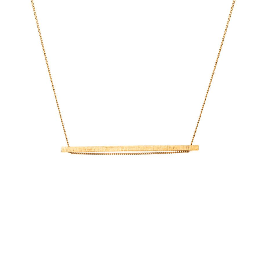9ct Gold Vermeil Elemental Horizontal Bar Necklace