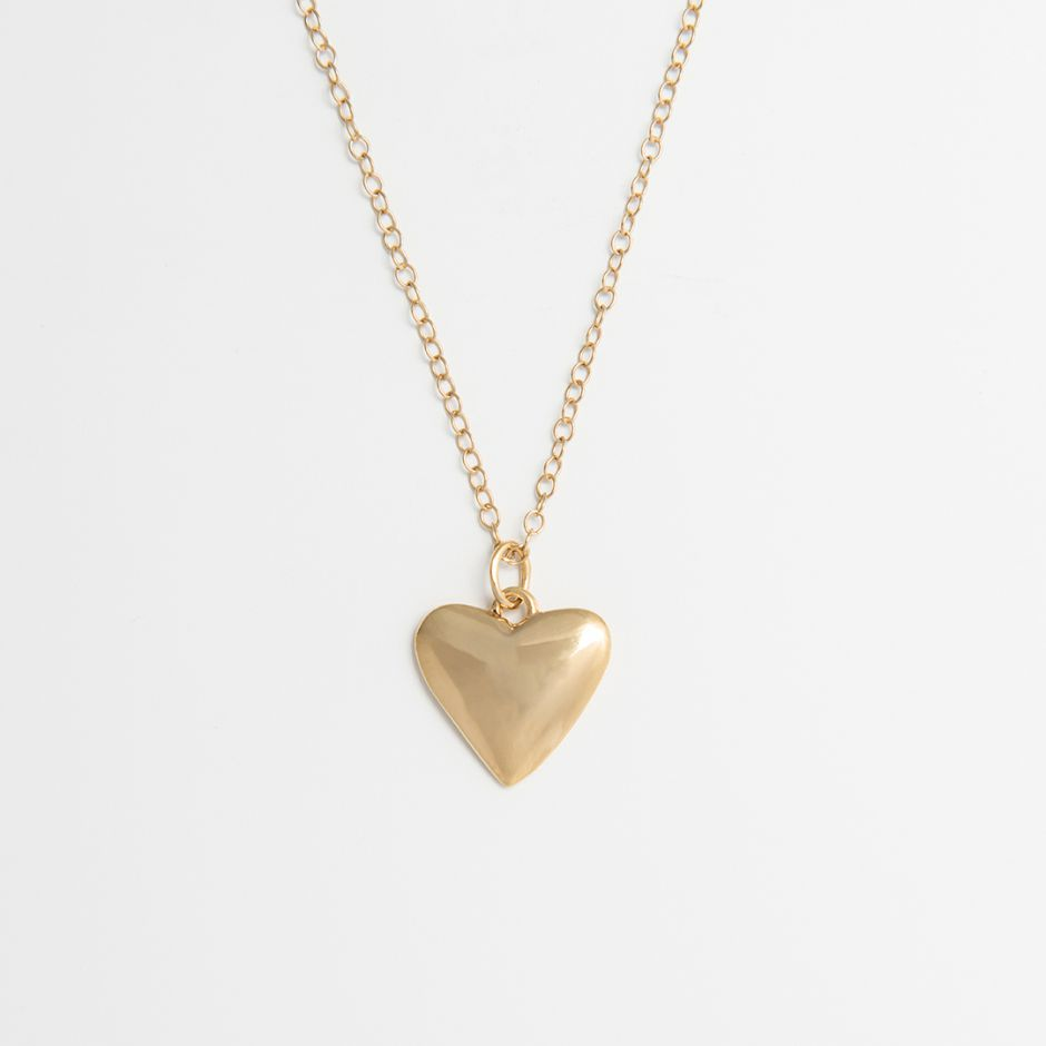 Large Heart-Shaped Necklace 18ct Gold Vermeil