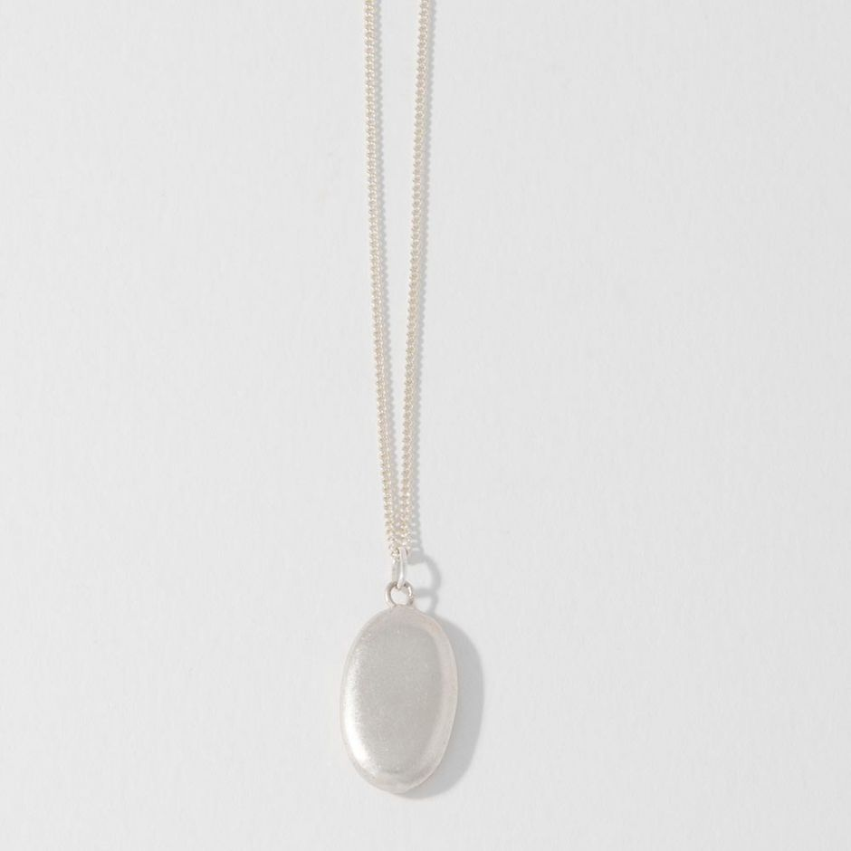 Large Sterling Silver Pebble Charm