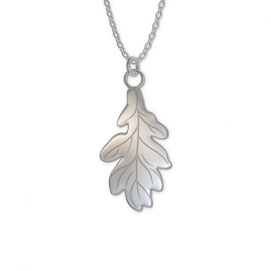 Watership Down - Sterling Silver Oak Leaf Tag Necklace Set