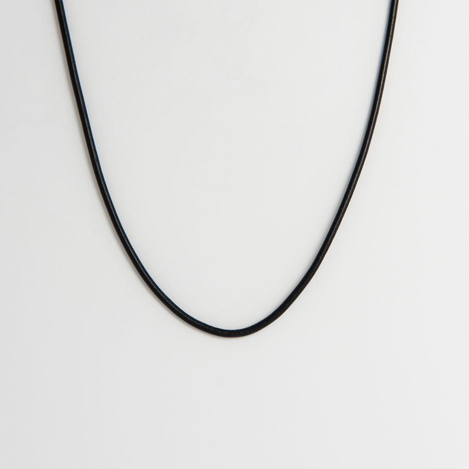 Black Leather Thong Necklace