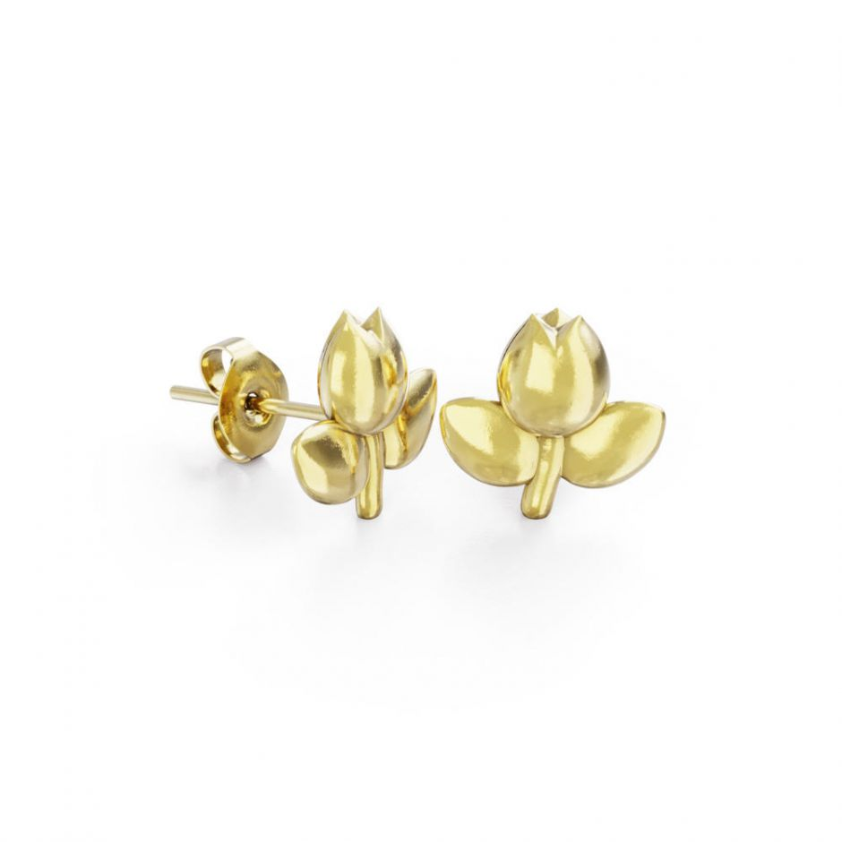 Miffy - 18ct Gold Vermeil Tulip Stud Earrings
