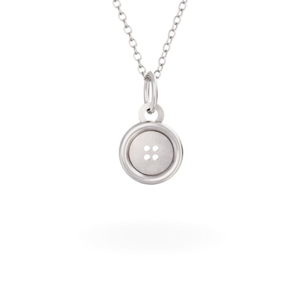 Miffy - Sterling Silver Button Necklace Set