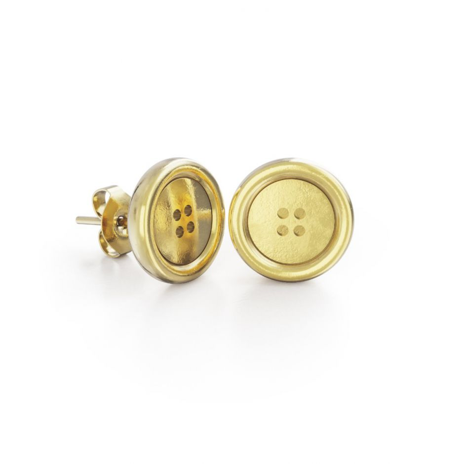 Miffy - 18ct Gold Vermeil Button Stud Earrings