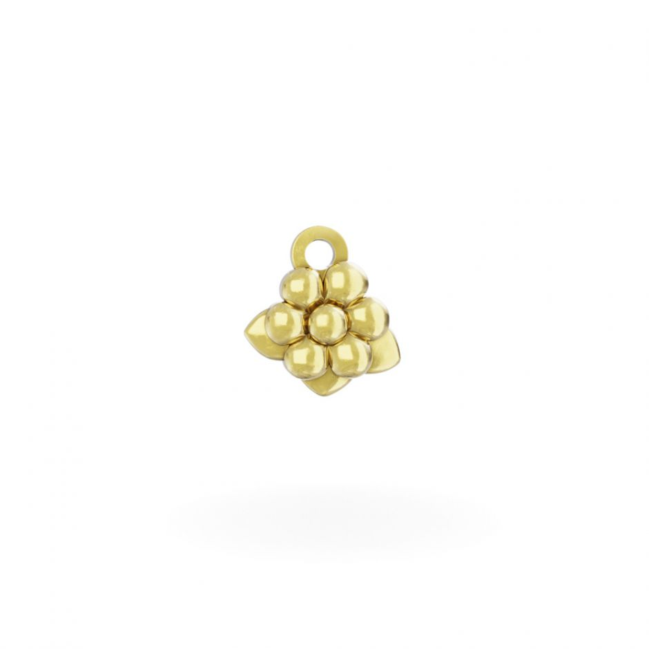 Miffy - 18ct Gold Daisy Mini Charm