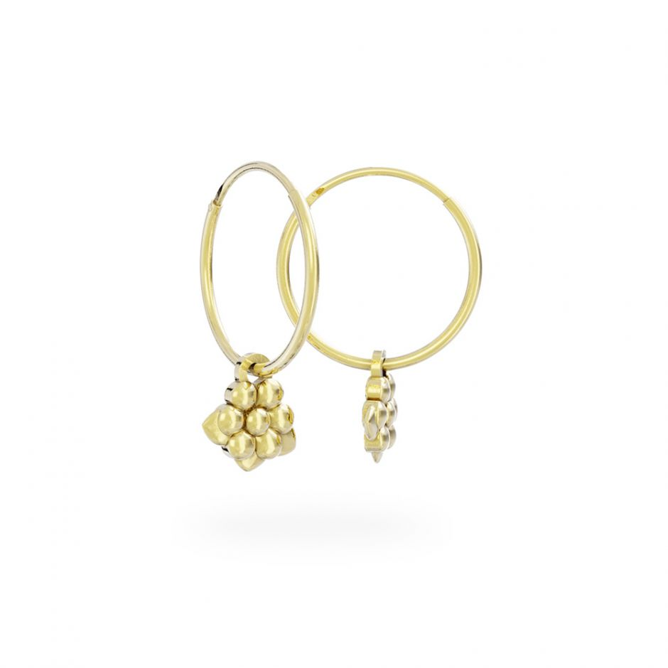 Miffy - 18ct Gold Vermeil Daisy Hoop Earrings