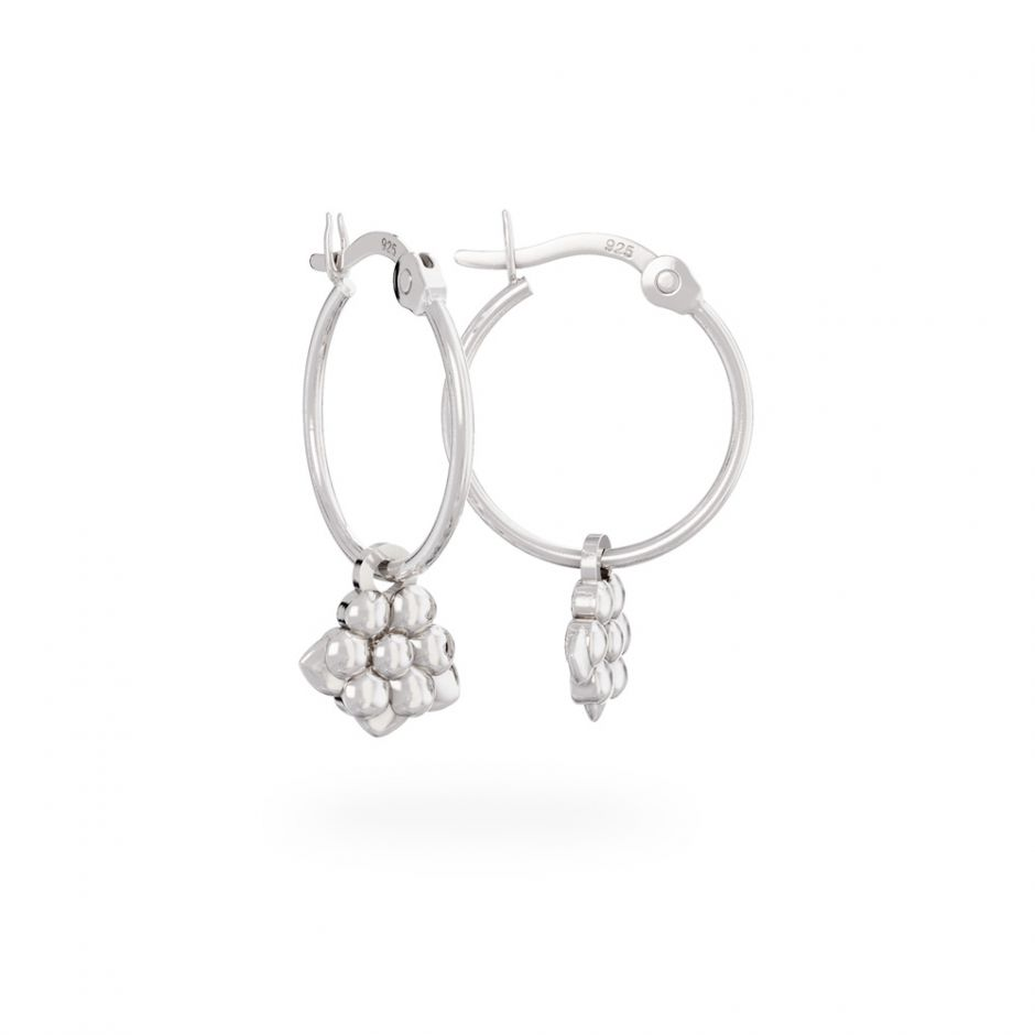 Miffy - Sterling Silver Daisy Hoop Earrings