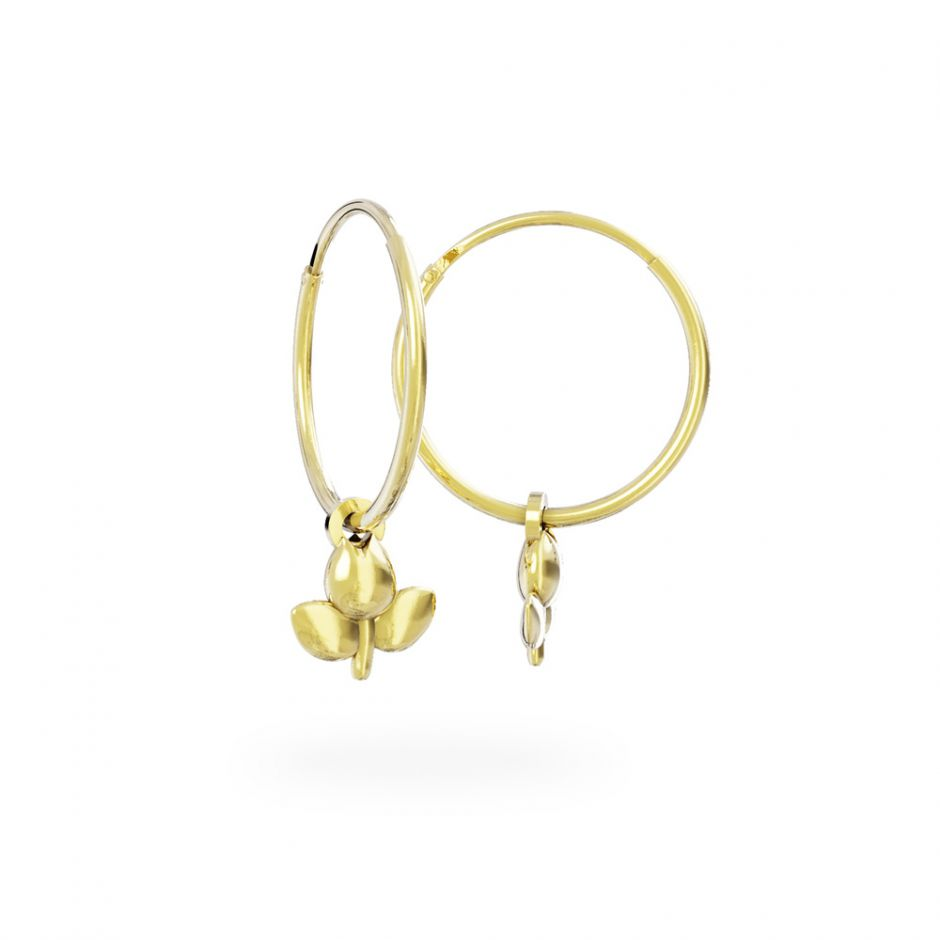 Miffy - 18ct Gold Vermeil Tulip Hoop Earrings