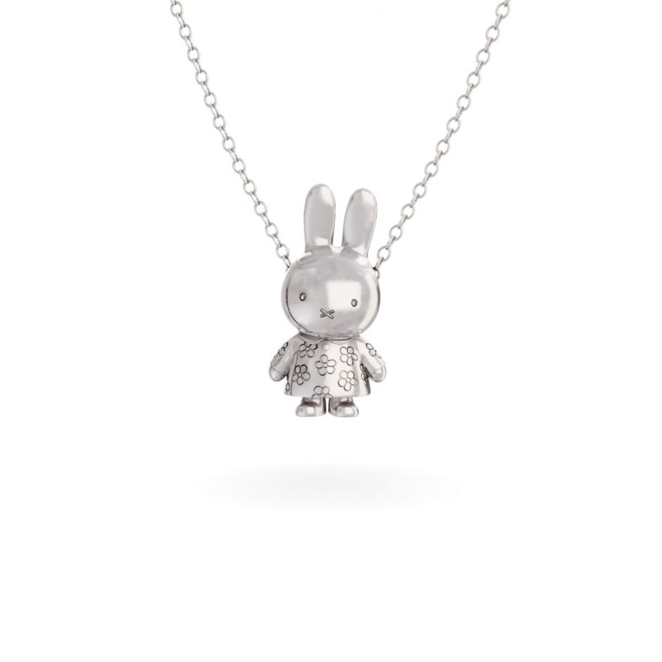 Miffy - Sterling Silver Flower Body Necklace Set