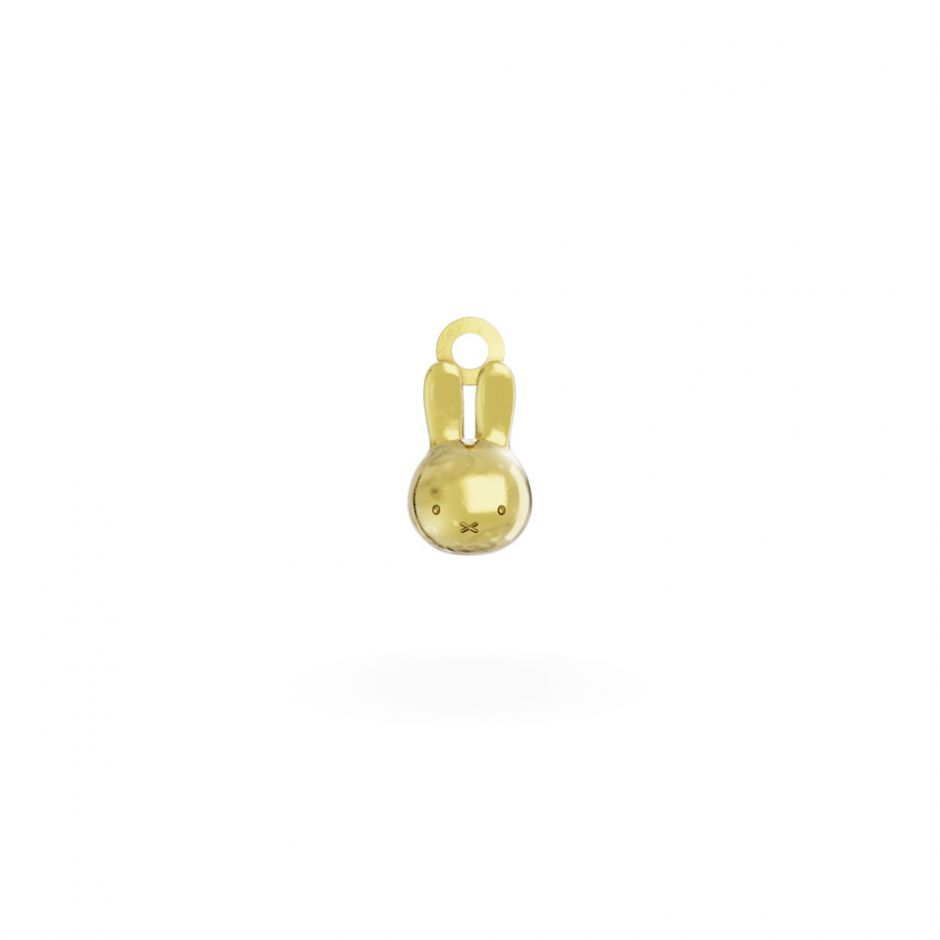 Miffy - 18ct Gold Vermeil Head Mini Charm