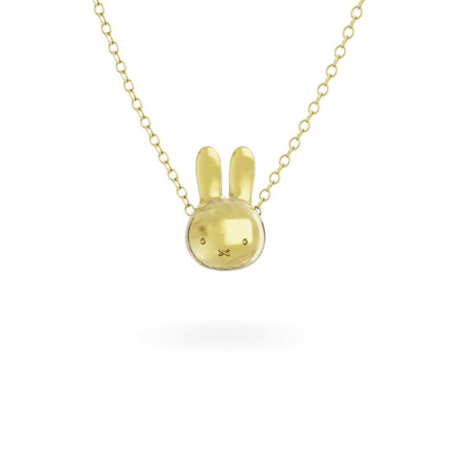 Miffy - 18ct Gold Vermeil Medium Head Necklace Set