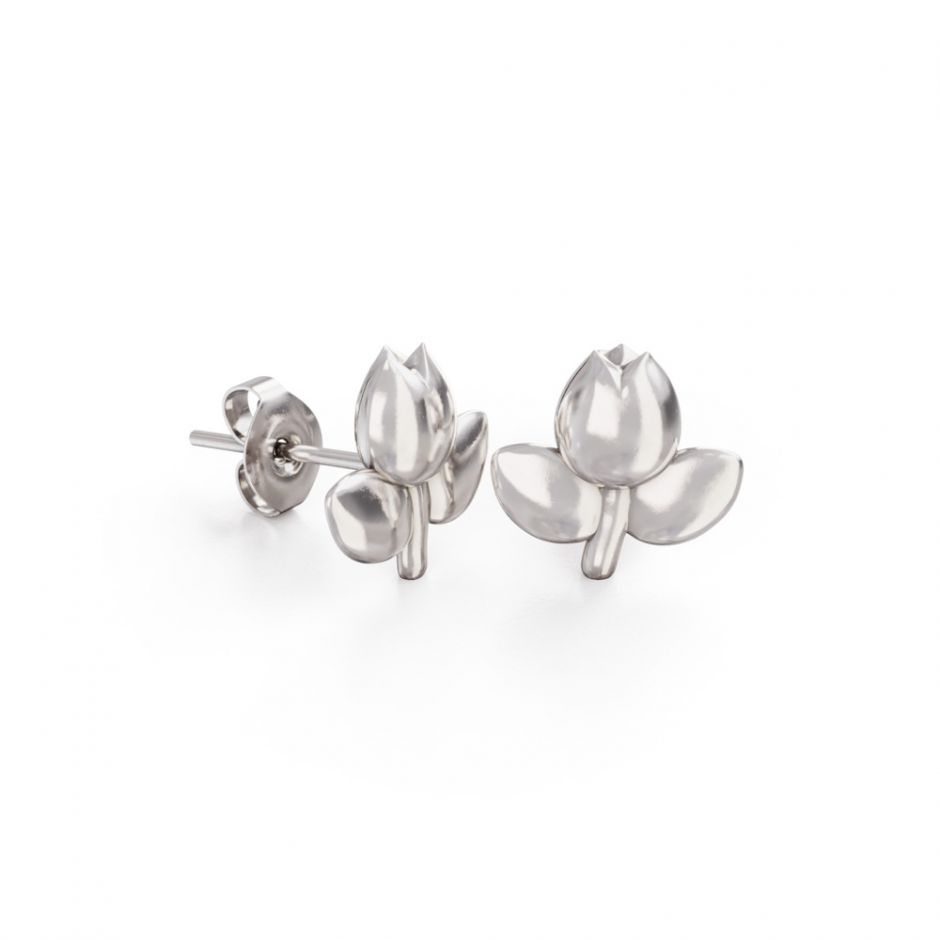 Miffy - Sterling Silver Tulip Stud Earrings