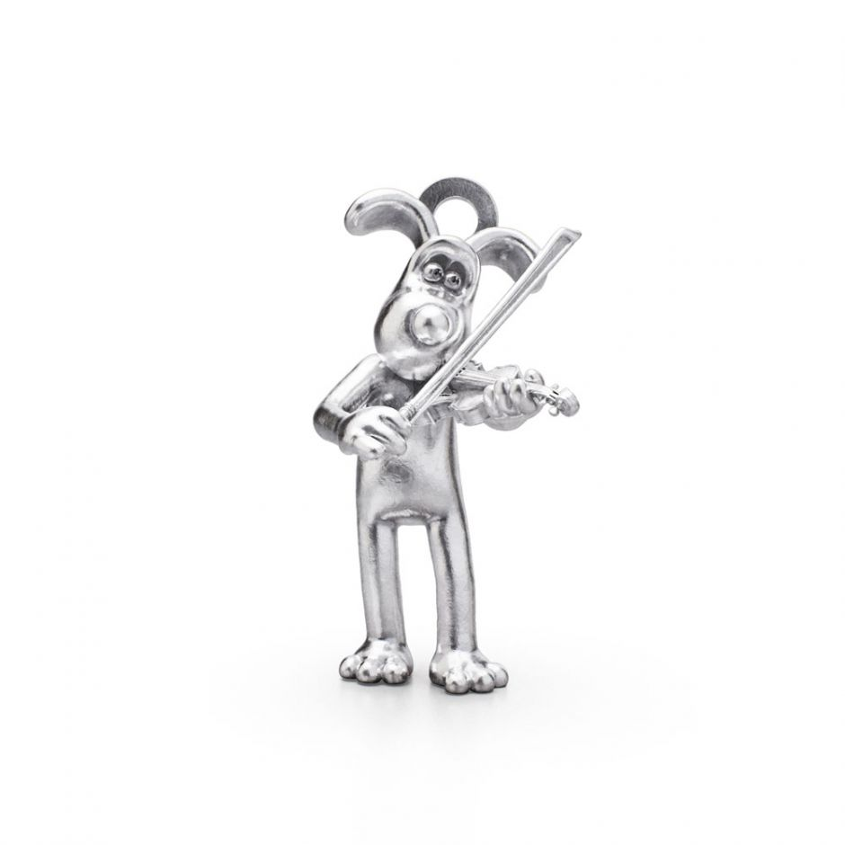 Sterling Silver Musical Marvels Gromit Charm