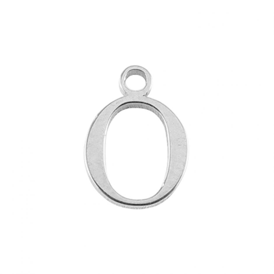 Sterling Silver Mini Alphabet Charm - O