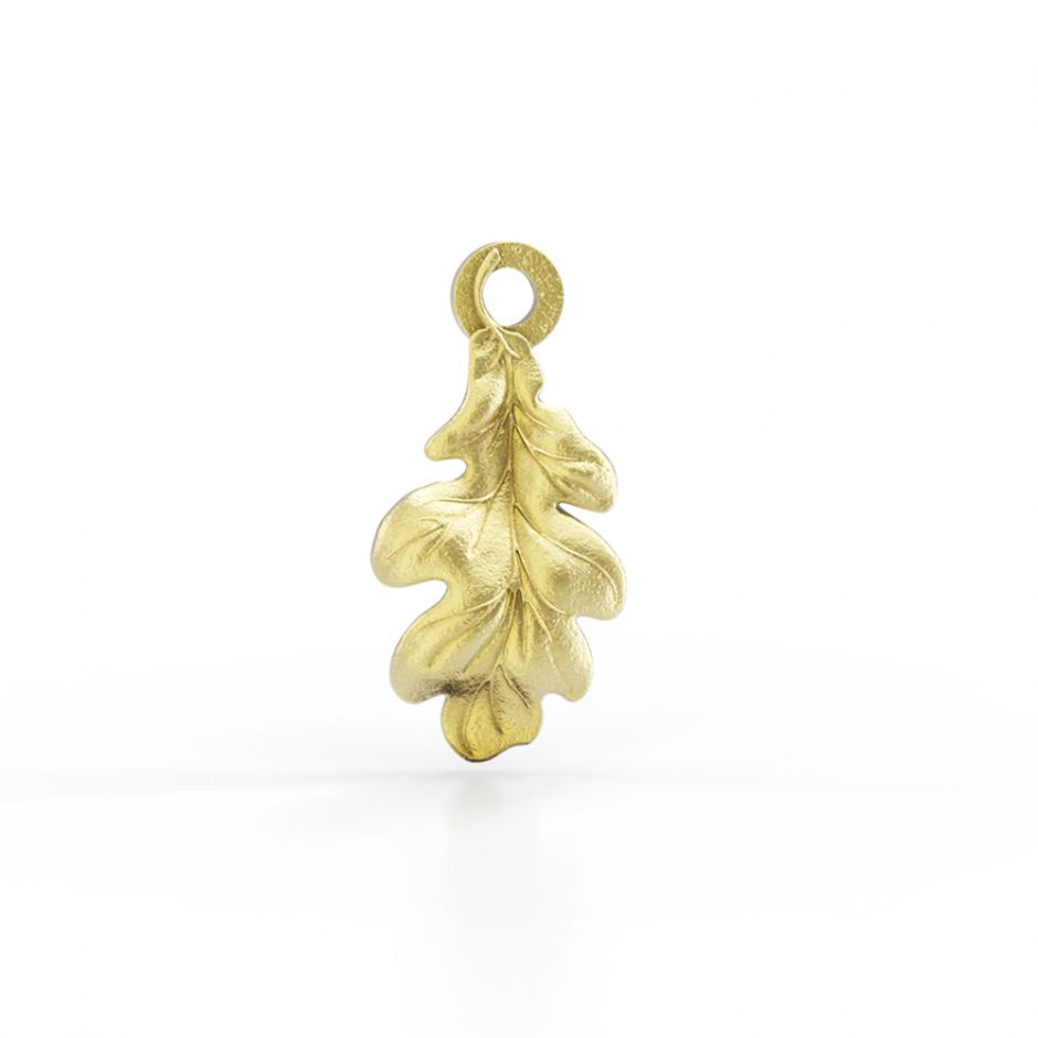 Watership Down - Gold Vermeil Oak Leaf Charm