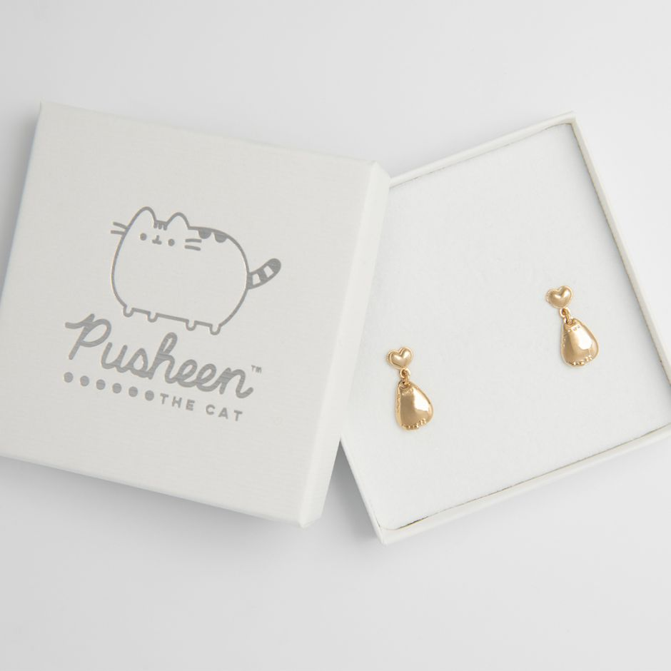Pusheen Drop Earrings 18ct Gold Vermeil