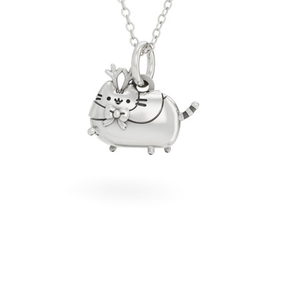 Pusheen Reindeer Necklace Sterling Silver
