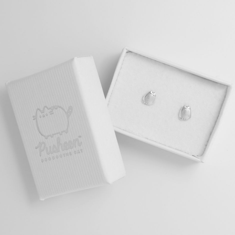 Pusheen Stud Earrings Sterling Silver