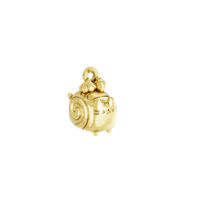 Pusheen Swiss Roll Charm 18ct Gold Vermeil