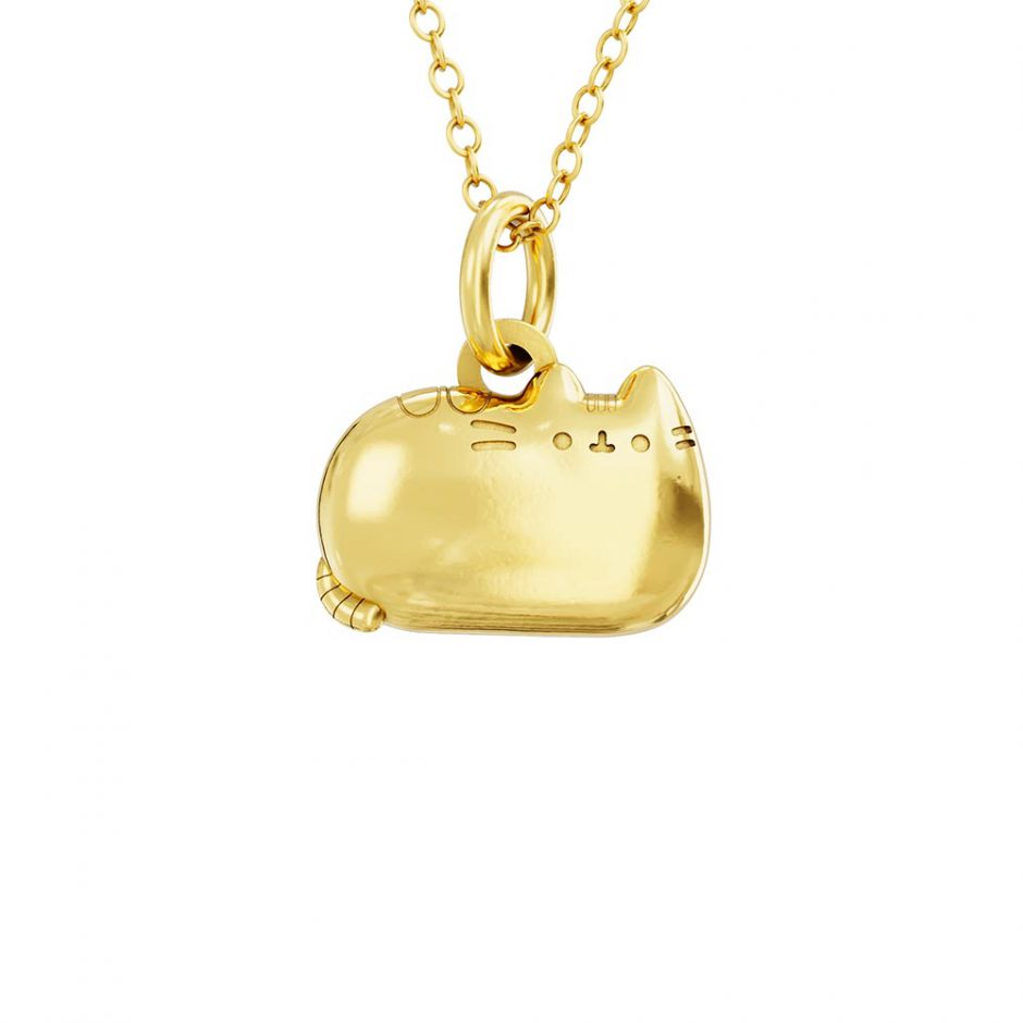 Pusheen 18ct Gold Vermeil Sitting Cat Charm Necklace