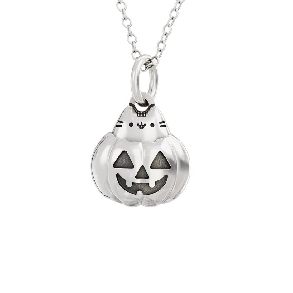 Pusheen Halloween Pumpkin Charm Necklace