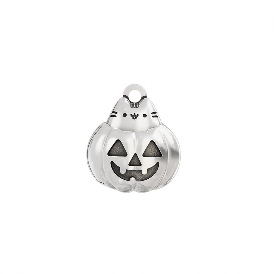 Pusheen Sterling Silver Pumpkin Cat Charm