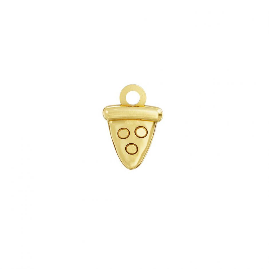 Pusheen 18ct Gold Vermeil Pizza Charm